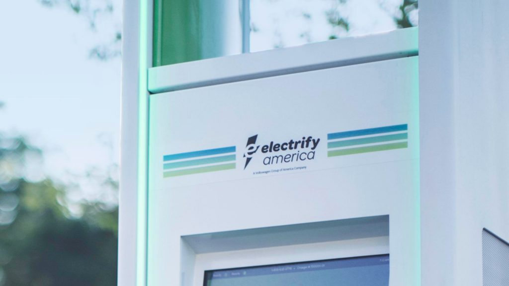 Electric vehicle charger from electrify America.