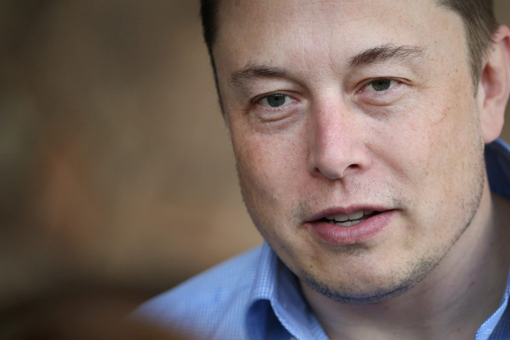 A close-up of Tesla CEO Elon Musk in July 2015