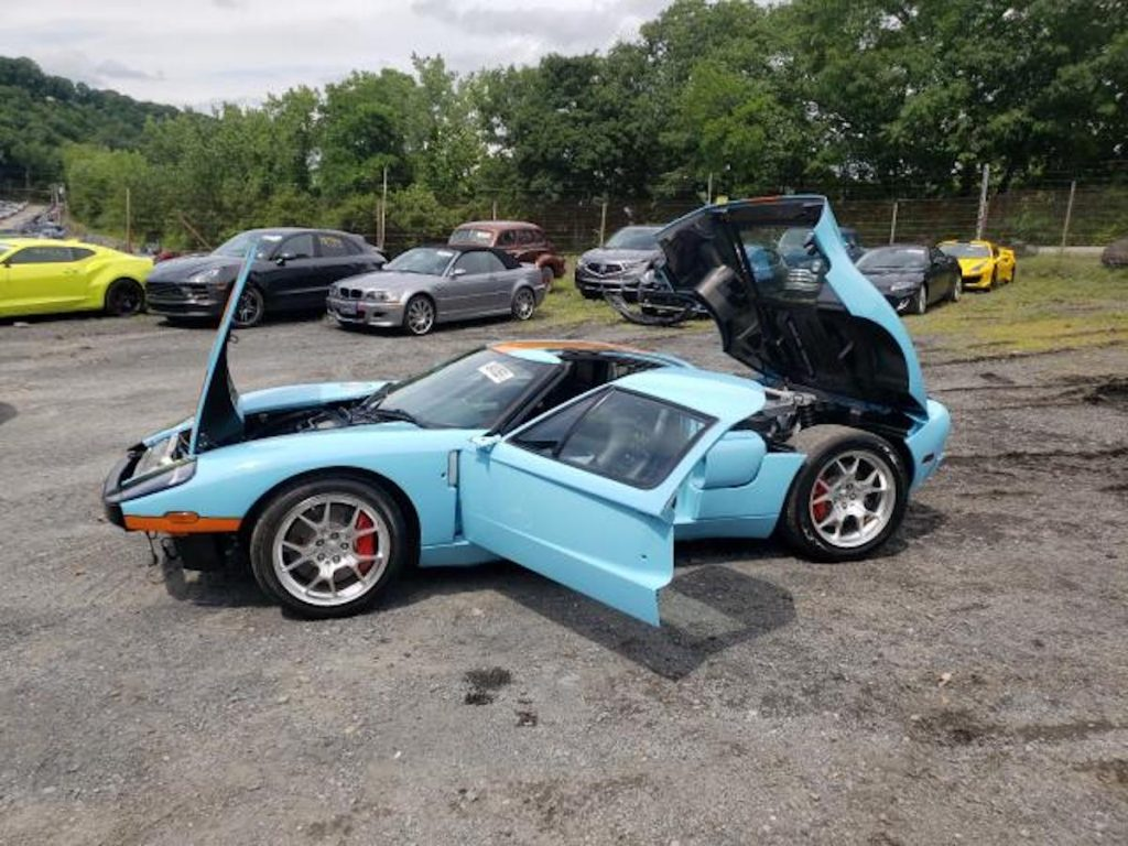 Ford GT with trunk, hood and doors open