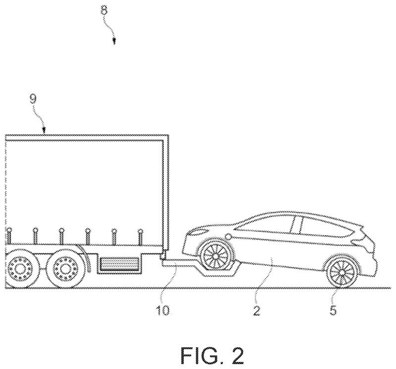 Ford Charging Electric Car By Towing With Two Wheels