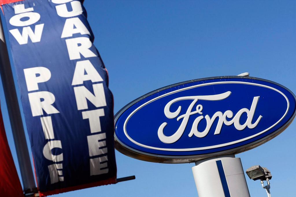Ford dealer's sign
