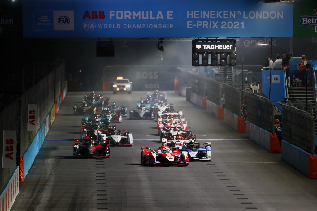 Formula E Electric Car Racing Series