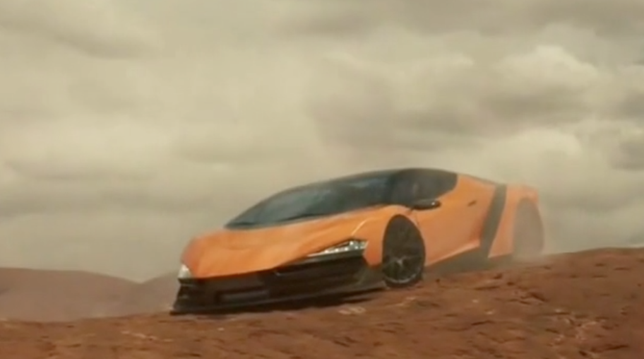 GMC commercial with stranded Lamborghini