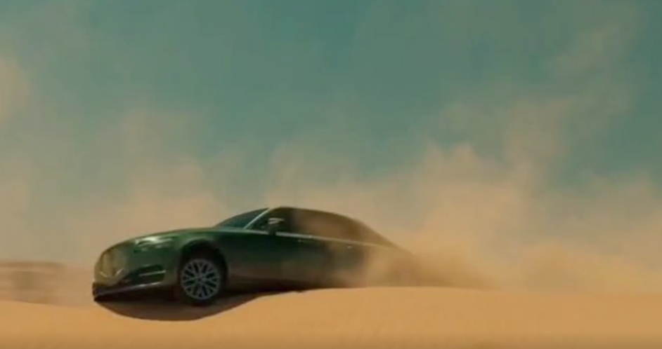GMC commercial with stranded luxury car