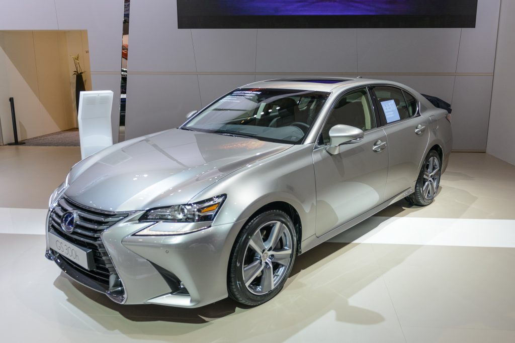 A silver Lexus GS 300 sedan