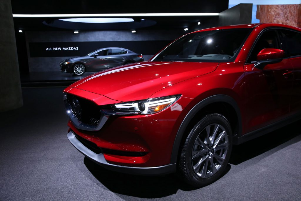 2018 Mazda CX-5 on display at an indoor auto show