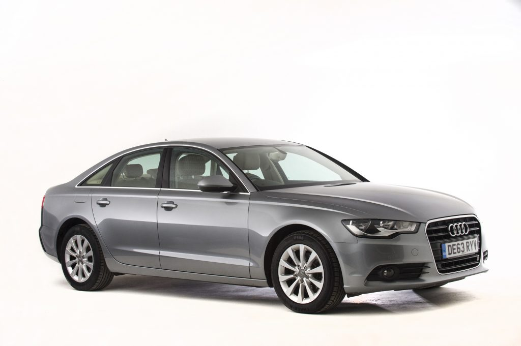 An Audi A6 in silver