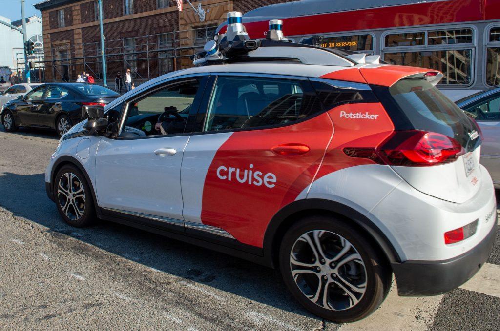 A Cruise self-driving car in California