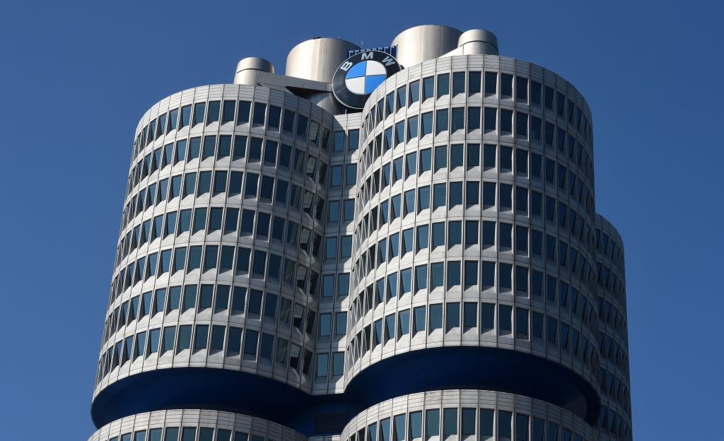 The headquarters of BMW in Munich, Germany.