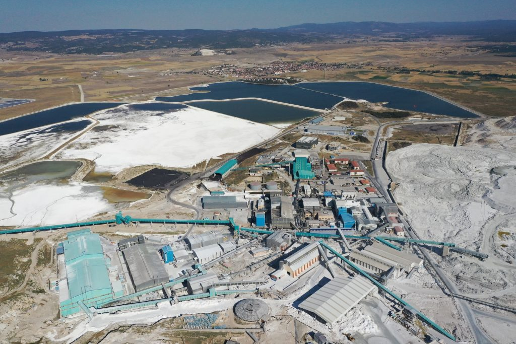 Lithium mining and production facility