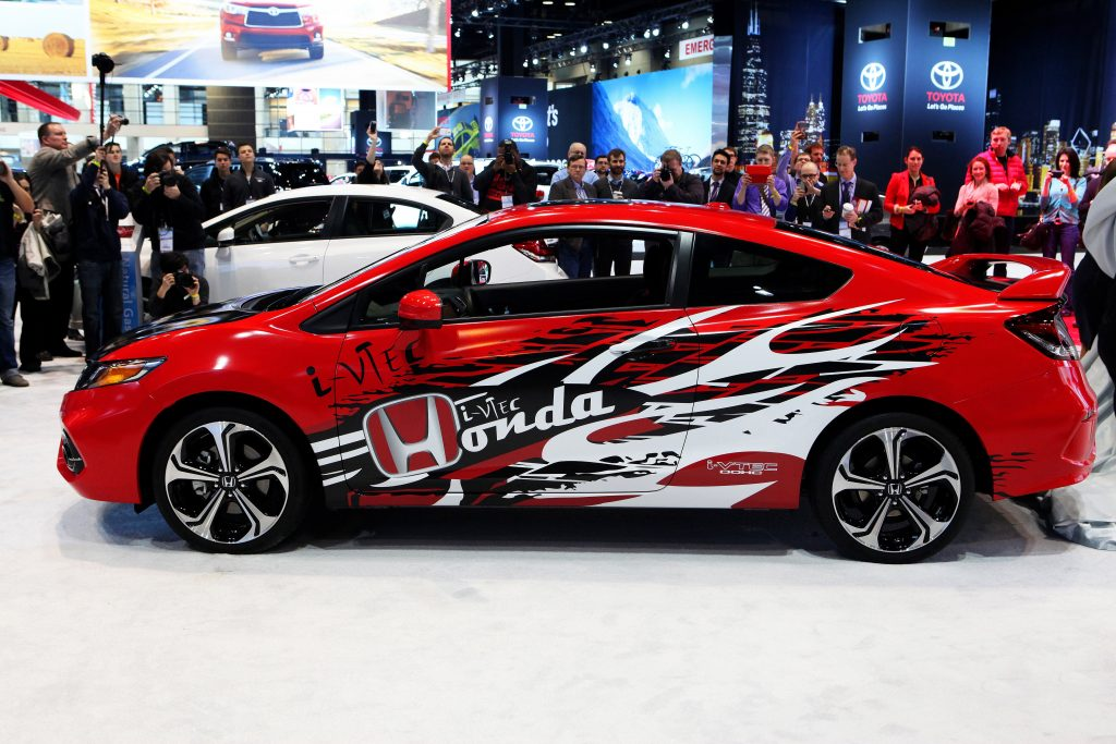 2014 Honda Civic Si, at the 106th Annual Chicago Auto Show.