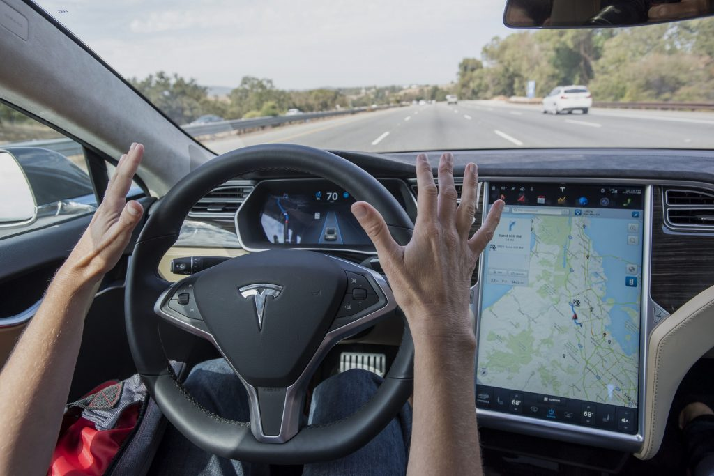 Hands-free driving courtesy of Autopilot
