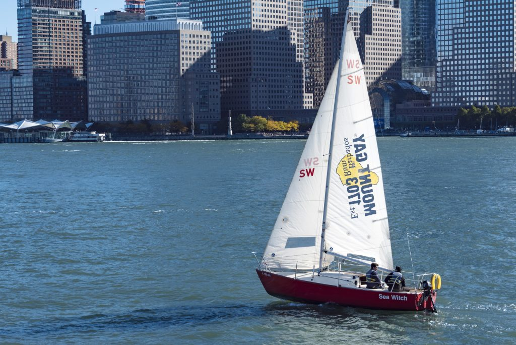 Sailboat on the waters of New York