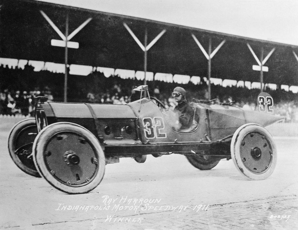 Ray Harroun driving his Marmon Wasp