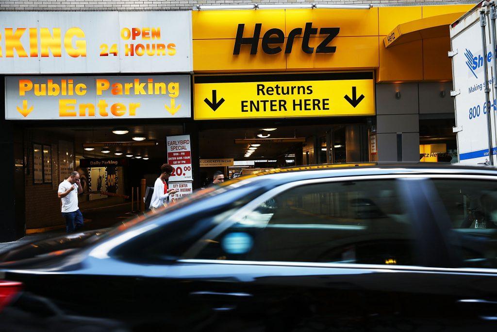 A Hertz office in Manhattan, NY