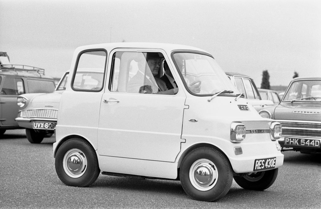 Ford Comuta electric car in a parking lot