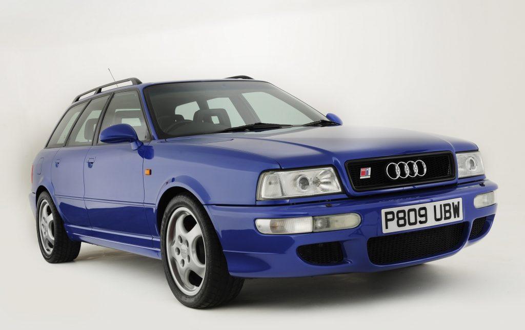 The Nogaro Blue Audi RS2 Avant station wagon