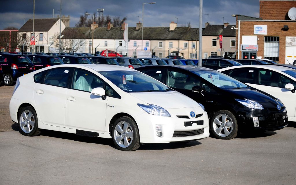 2010 Toyota Prius model parked in a parking lot ready for sale