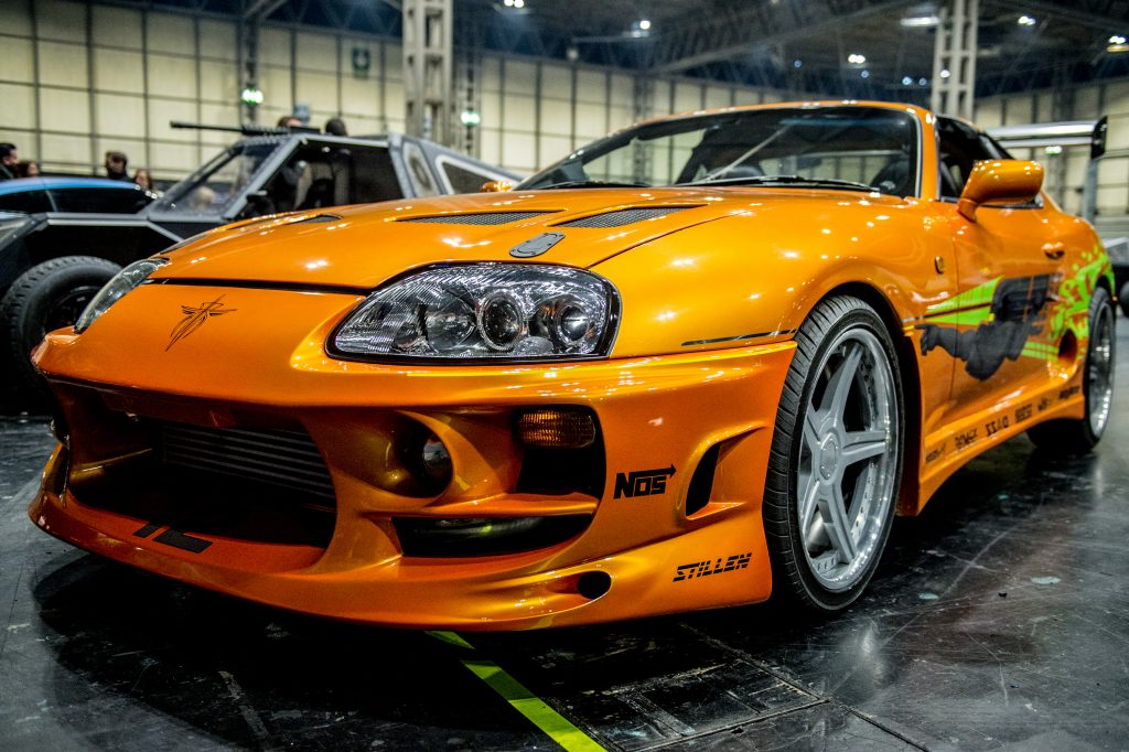 """The infamous orange Toyota Supra is what most picture when they think """"modified car""""."""