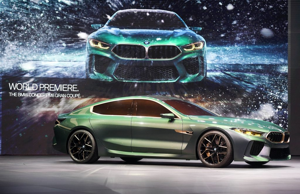 The green M8 concept at it's reveal in 2018