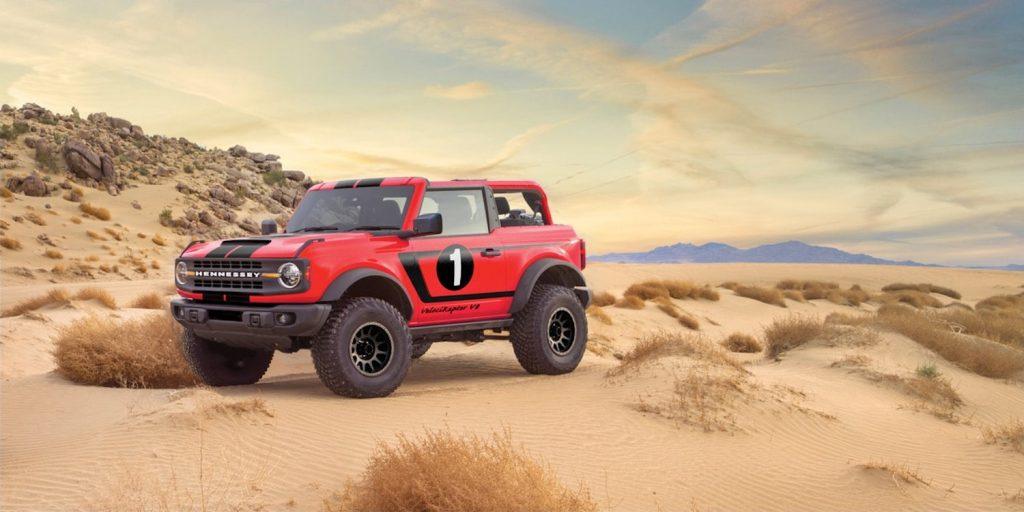 The V8 VelociRaptor parked in the desert