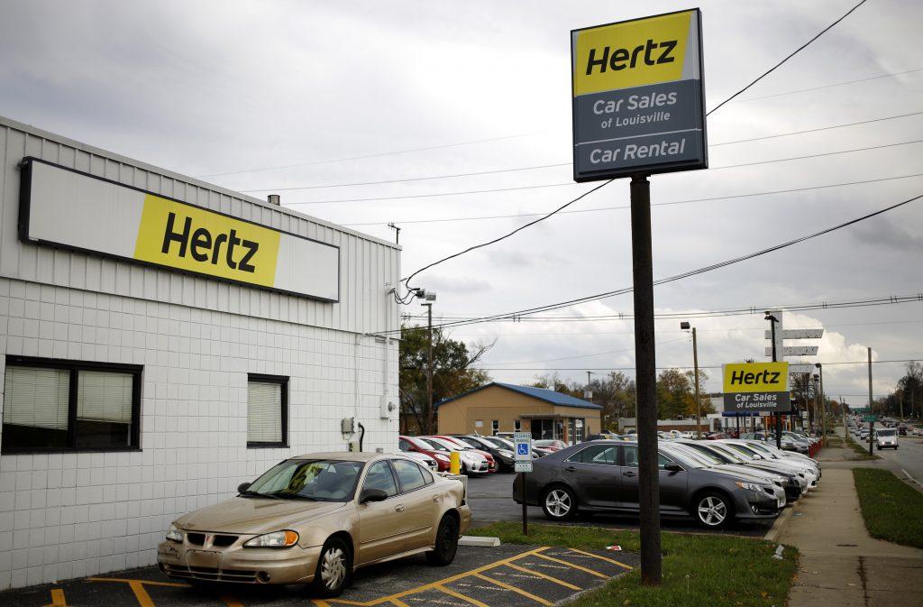 Hertz rental car pick up
