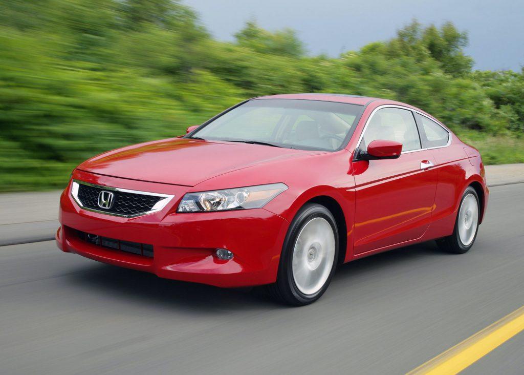 2008 Honda Accord in red