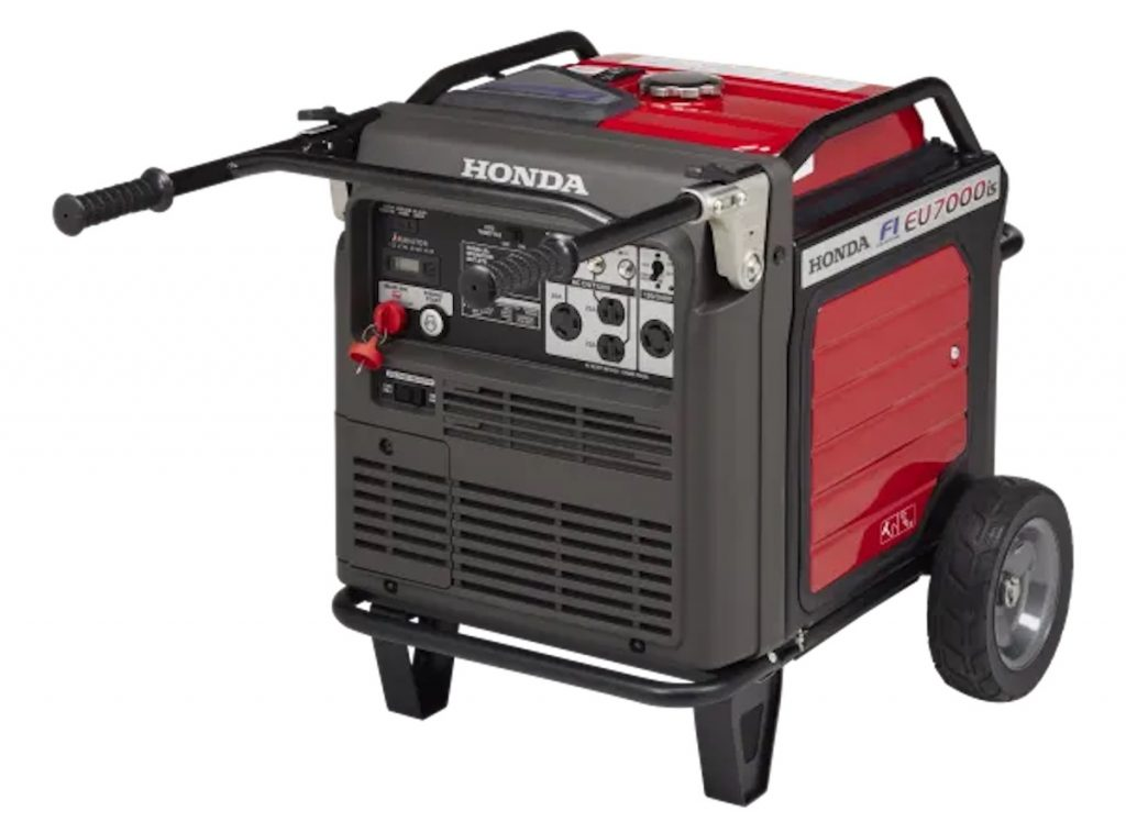 Stock image of a Honda inverter generator in Honda Red is the best generator according to Consumer Reports
