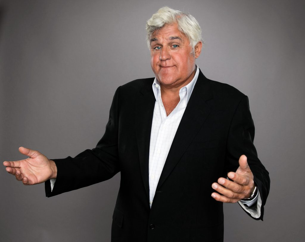 TV personality Jay Leno poses for a portrait at the NBCUniversal Summer Press Day in 2015 in Beverly Hills
