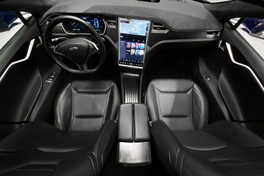 Jay Leno Tesla Model S interior