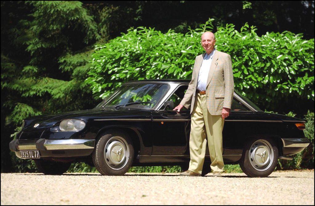 Jean Panhard and a black 1967 Panhard 24 BT
