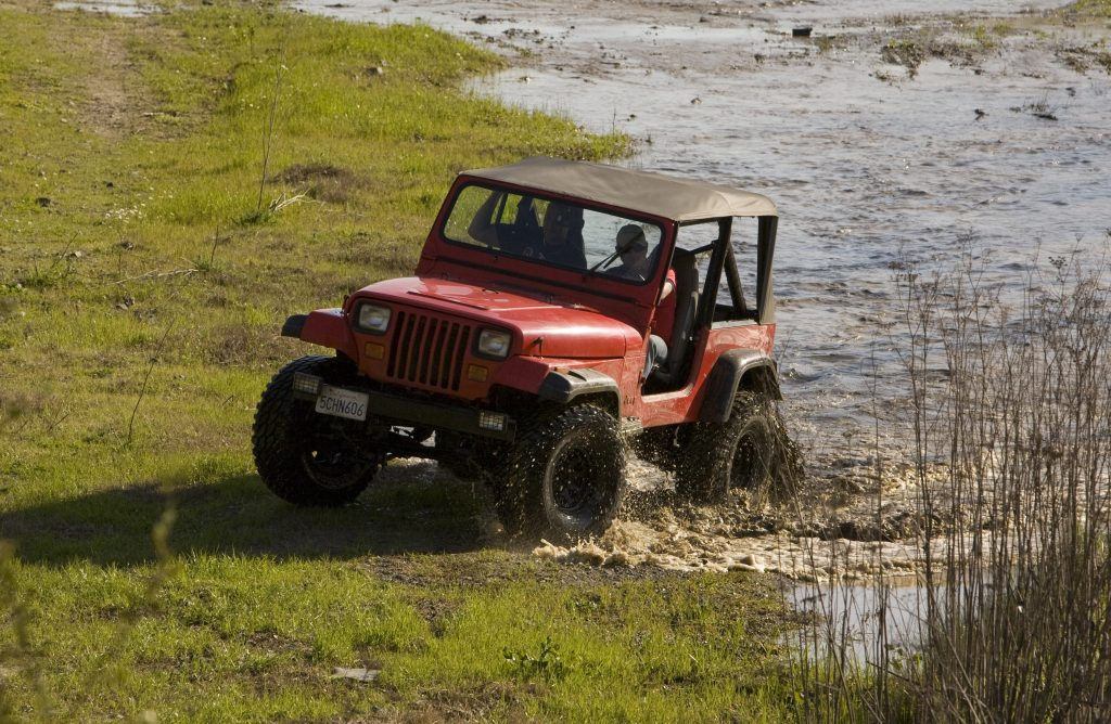 Jeep Goes Off Roading