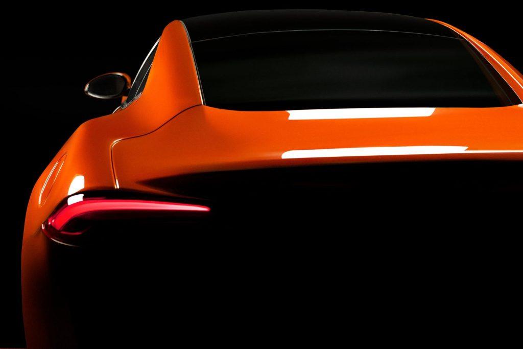 A teaser image of the Karma GSe-6 EV model