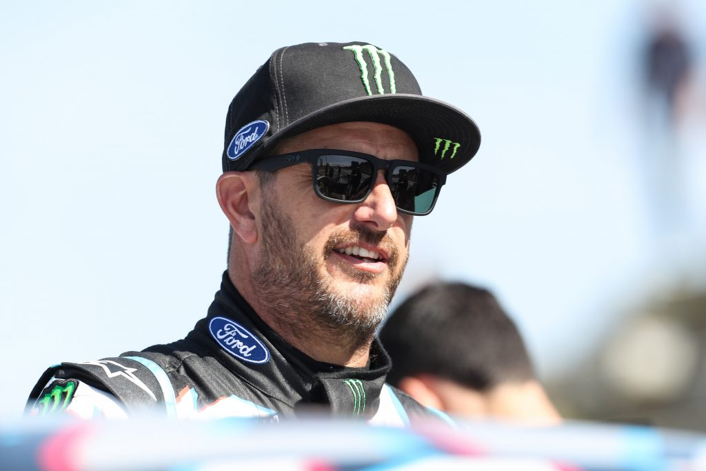 Ken Block at the World Rallycross of Portugal in 2017