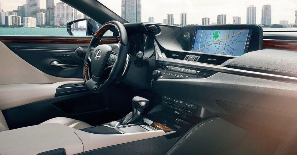 Interior of a Lexus ES 350.