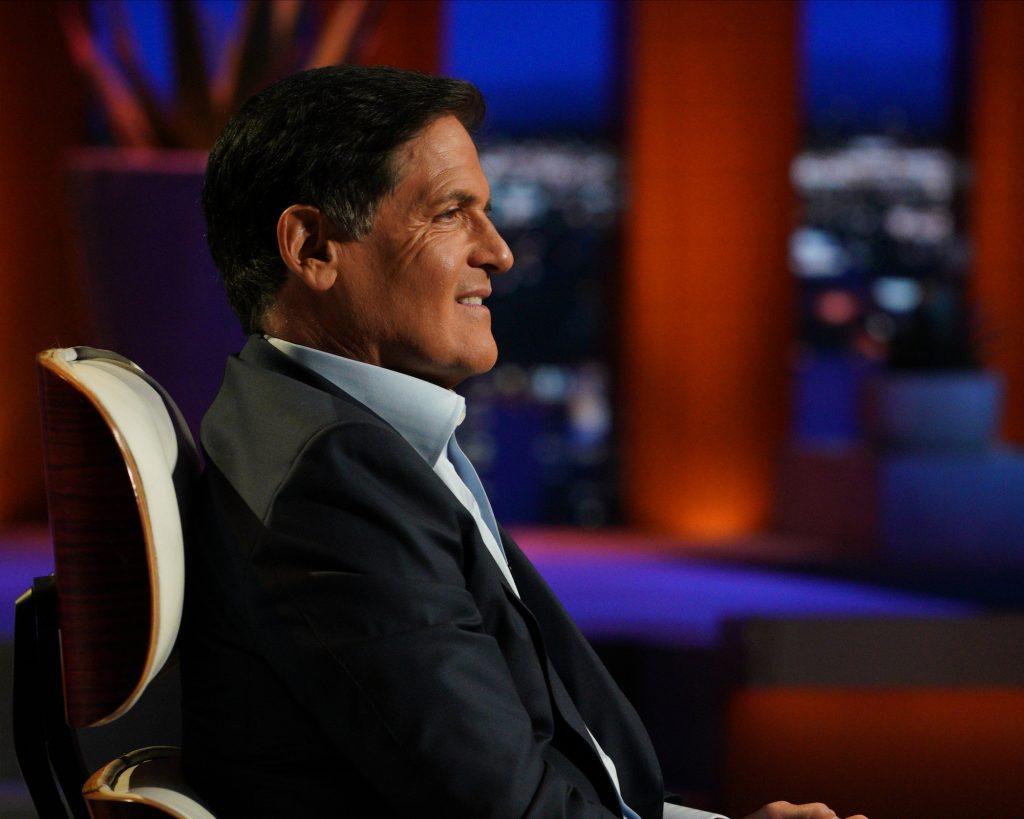 Mark Cuban on the set of 'Shark Tank'