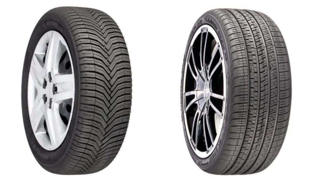 Michelin Crossclimate+ Performance Tires versus Goodyear Eagle Exhilarate Tires Ultra Performance Tires