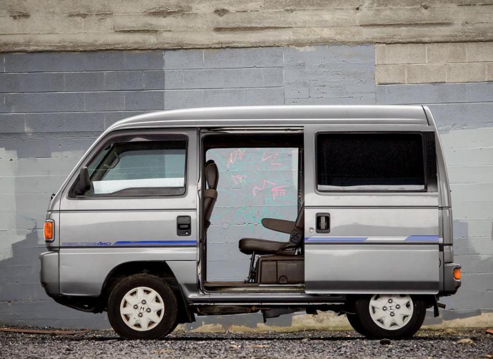 Mitsubishi Delica with cargo doors open