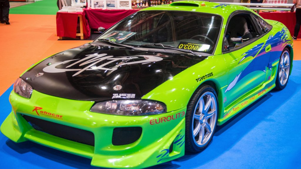 A Mitsubishi Eclipse used onscren in The Fast and The Furious.