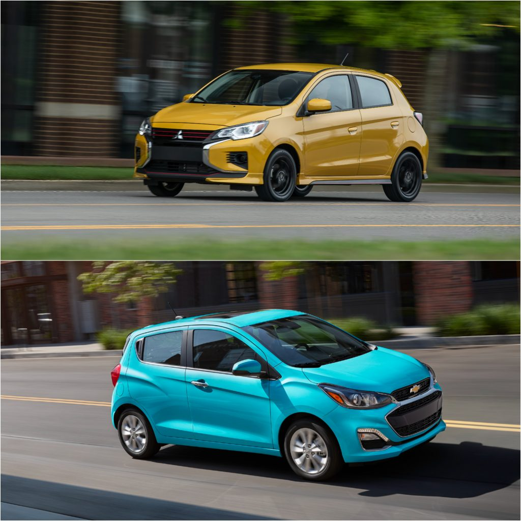 Mitsubishi Mirage (Top) and Chevy Spark (Bottom) best value