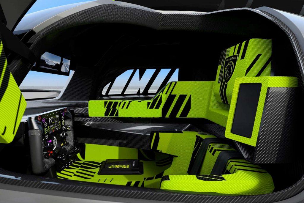 Peugeot 9X8s endurance racer interior