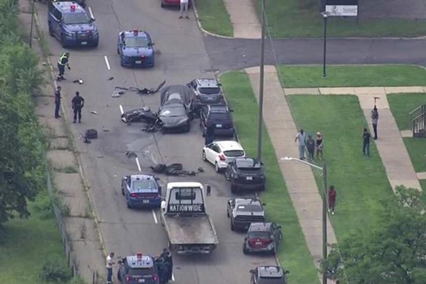 Police chase of 2021 C8 Corvette
