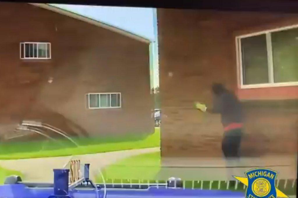 dash cam shot of theft suspect