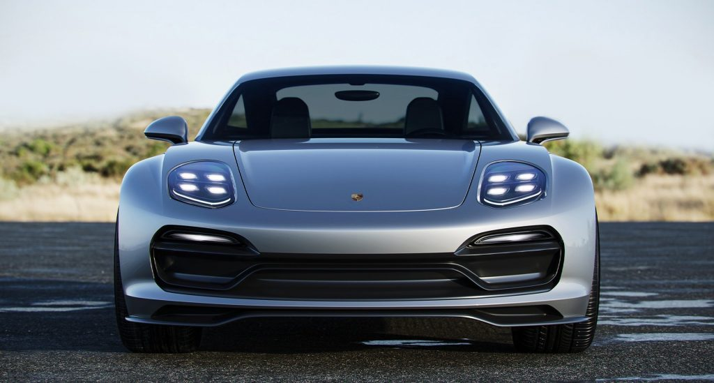 digital rendering of the front of the Porsche 928 concept
