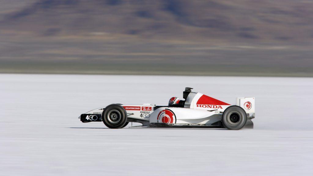 The Honda RA106 at the Bonneville Salt Flats