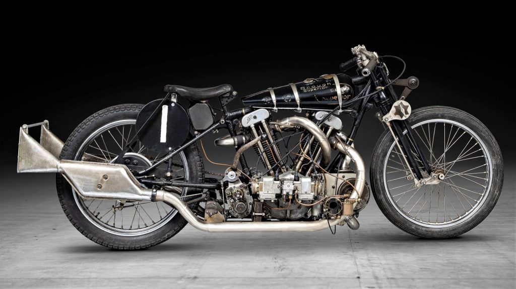 Brough Superior SS100 1,000cc Supercharged Special Re-Creation sold at the 2021 Bonhams auction