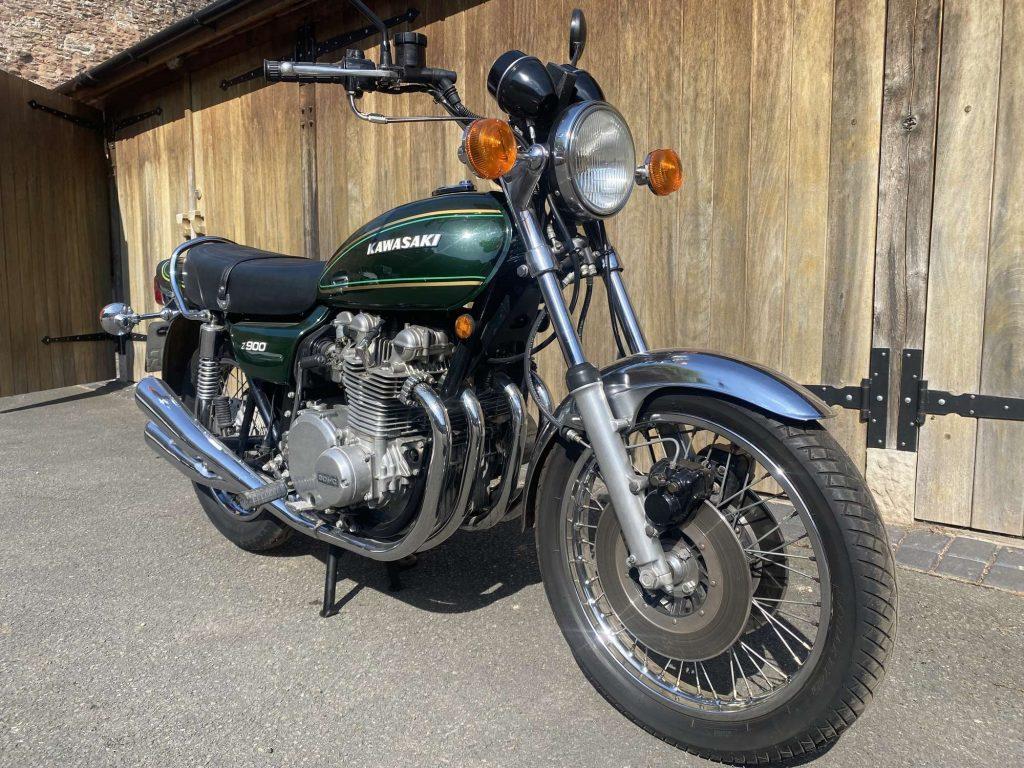 Richard Hammond's dark-green 1976 Kawasaki Z900 A4
