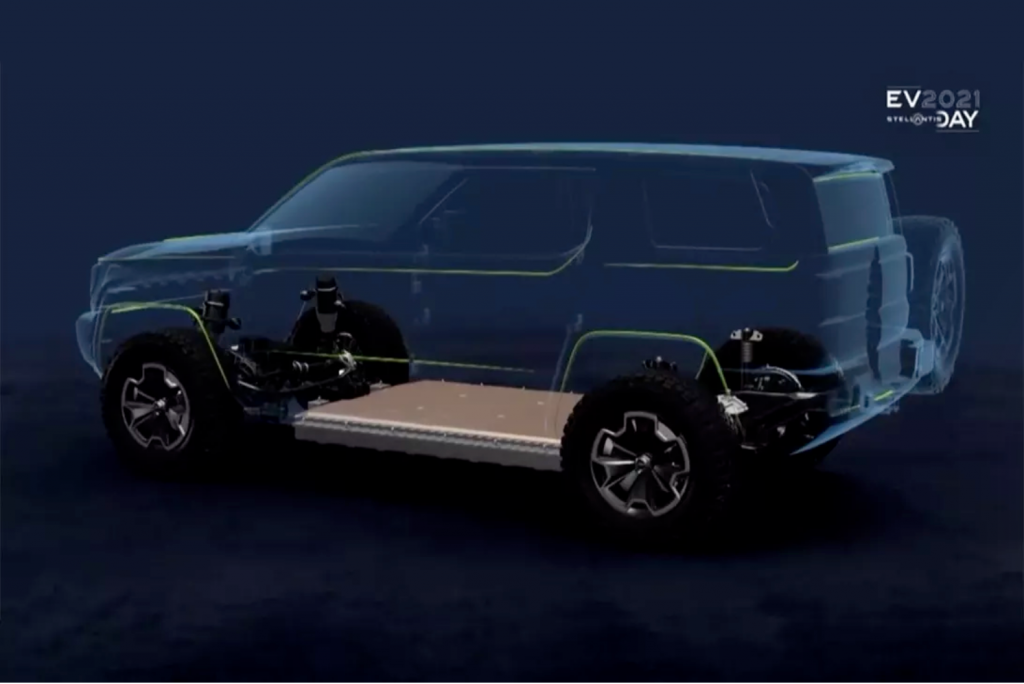 An Electric Jeep teaser that could be the Renegade 4xe