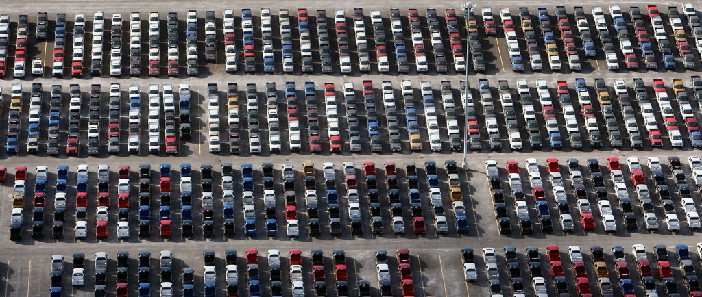 Thousands of F-150 pickups await chips before completion