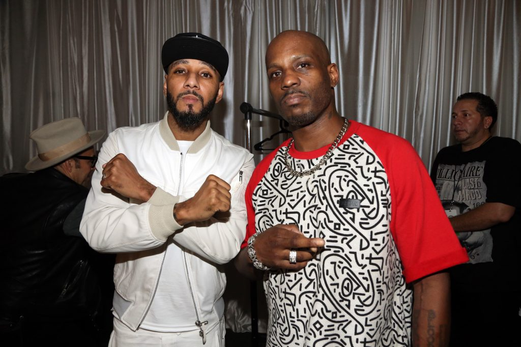 Swizz Beatz and DMX attend Day 3 of The Dean collection X Bacardi House Party on December 5, 2015, in Miami, Florida